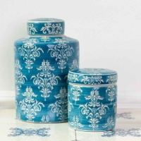 Chinoiserie Ginger Jar Teal by Grand Illusions