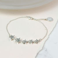 Silver Plated Crystal Multi Star Bracelet by Peace of Mind