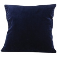 Navy blue velvet cushion by Grand Illusions
