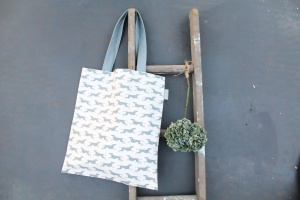 Fast Dog Linen canvas bag by Sam Wilson Studio