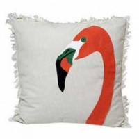 Natural Flamingo cushion by Raine & Humble