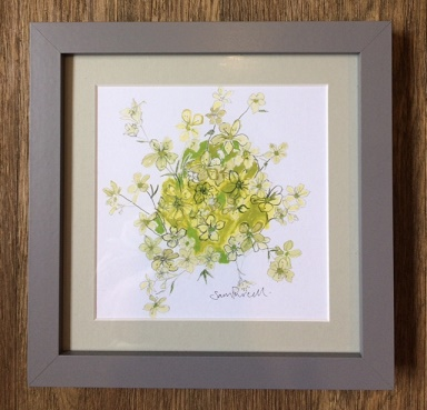 'Flowers' Framed Print by Sam Purcell