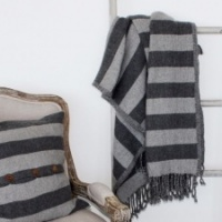 Gramercy Grey  Throw by Biggie Best