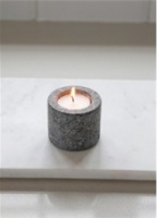 Straight granite candle holder by Garden Trading