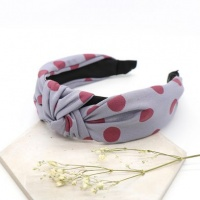 Grey and Mulberry Spot Print Headband by Peace Of Mind