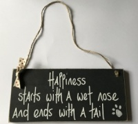''Happiness'' Dog Lovers Sign