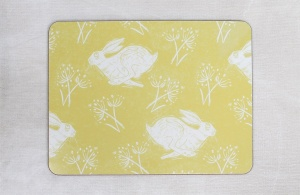 Headlong Hare placemat by Sam Wilson Studio