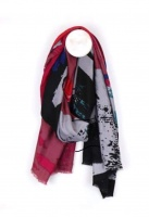 Pink Paint Splash Scarf by Peace of Mind