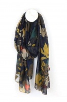 Overlap Leaf Scarf in Mustard by Peace of Mind