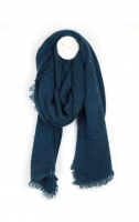 Sequinned Wrap Scarf in Teal by Peace of Mind