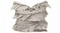Taupe Linen Frill cushion by Raine & Humble