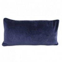 Navy velvet rectangular cushion by Raine & Humble