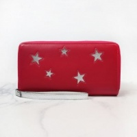 Deep Pink Purse with Silver Stars by Peace of Mind