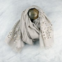 Grey & Gold sequin scarf by Peace of Mind.