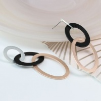 Mixed Metallic Finish Triple Hoop Earrings by Peace of Mind