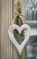 White Chunky Hanging Heart (Small) by Retreat
