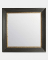 Large Square Mirror Black by The Vintage Garden Room