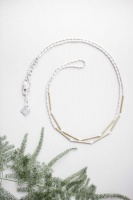 Tutti & Co Simple Bar & Chain Necklace