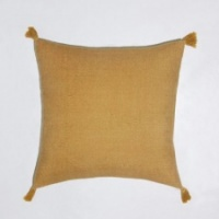 Goa mustard tassle cushion by Biggie Best