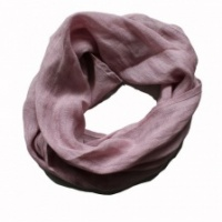 Pure rose pink linen, boxed scarf by Biggie Best