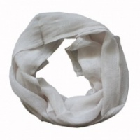 Pure white linen, boxed scarf by Biggie Best
