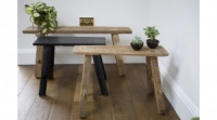Small Natural Wood Recycled Bench by Raine & Humble
