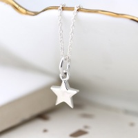 Sterling silver star pendant on a fine silver chain by Peace Of Mind
