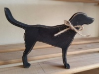 Free standing, Black Labrador, wooden silhouette