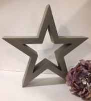 Hilly Horton Home Painted Signature Star - Small Grey Oak
