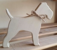 Free-standing, Fox Terrier, wooden silhouette