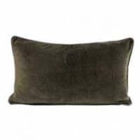 Olive velvet rectangular cushion by Raine & Humble