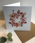 Exclusive  ''Winter Wreath'' greetings card  by Sam Purcell for Hilly Horton Home