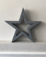 Hilly Horton Home Painted Signature Star - Small - Distressed Grey