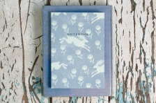 Running Hare Grey Blue A5 Notebook by Sam Wilson Studio