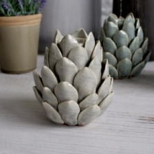 Artichoke Candle Holder Grey by Biggie Best