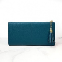 Faux Leather Purse in Blue by Peace Of Mind