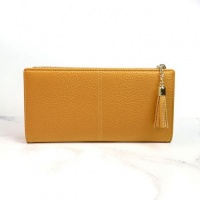 Faux Leather Purse in Mustard by Peace Of Mind