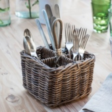 Bembridge Rattan Cutlery Holder by Garden Trading