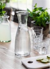 Glass Bistro Carafe by Garden Trading