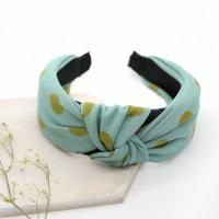 Blue and Green Spot Print Headband by Peace Of Mind