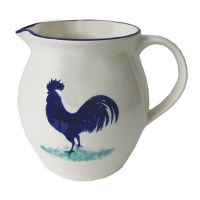 Dorset Delft Cockerel Jug by Hinchcliffe and Barber