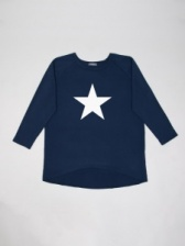 Robyn Top Navy with White Star by ChalkUK