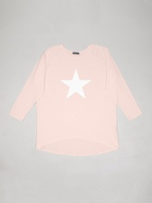 Robyn Top in Pink with White Star Logo by Chalk UK