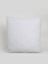Square Felt Silver Cushion by ChalkUK