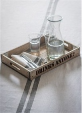 ''Drinks Anyone'' tray by Garden Trading