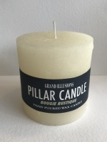 Rustic Pillar Candle Ivory 10cm x 10cm by Grand Illusions