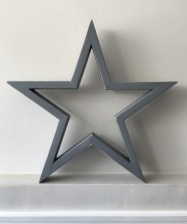 Hilly Horton Home Painted Signature Star - Medium - Distressed Grey