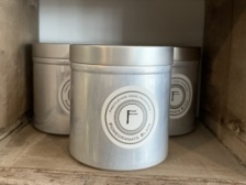 Tin Candle, Pomegranate Black by Freckleface Home Fragrance