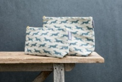 Fast Dog Linen  wash bag by Sam Wilson Studio: Size Large
