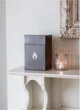 Fire Lighter box in Charcoal by Garden Trading